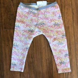 Zara baby girl bike/flower leggings 18/24 months